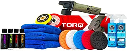 Chemical Guys BUF_209XMAX TORQX Random Polisher Kit with Towels, Pads, Pad Cleaner & Conditioner, Polishes & Compounds (17 Items)