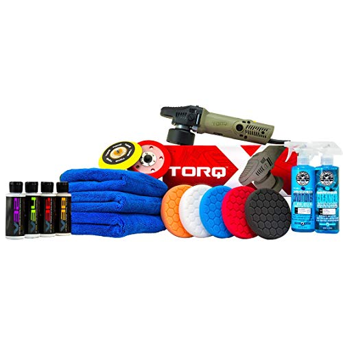 Chemical Guys BUF_209XMAX TORQX Random Polisher Kit with Towels Pads Pad Cleaner amp Conditioner Polishes amp Compounds 17 Items