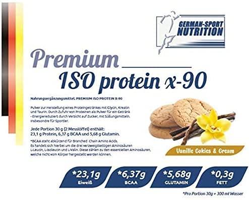 Premium Iso Protein 90 + Whey Protein Isolat 2500 g Schoko-Cookies