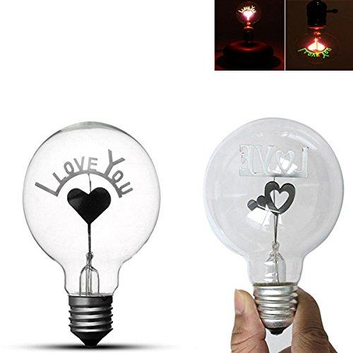 Led Light Bulbs - E27 1.5w Vintage Edison Single Double Filament Hearts Warm White Incandescent Light Bulb Ac220-240v - Edison Hearts Light Bulb - 1PCs