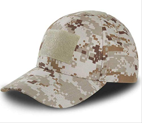 yaheihei Camouflage Baseball Cap Army Tactical Baseball Cap Herren Casual Downhill Verstellbare Paintball Combat Cap One Size Desert Digital