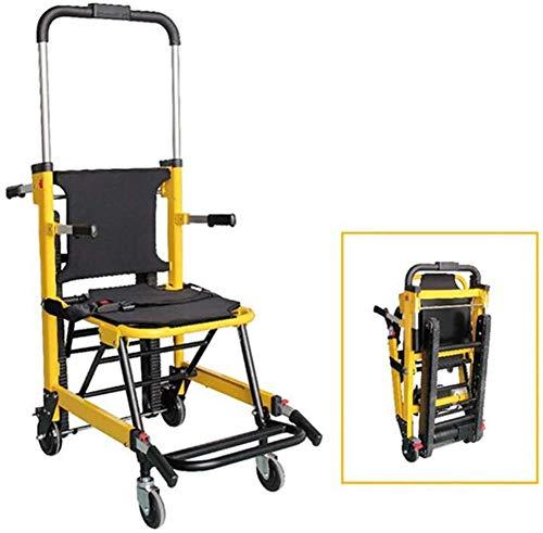 XYLUCKY Stair Chair - Emergency Patientenumbettung Medical Aufzug Stuhl - 4 Wheel Deluxe Evakuierung Stuhl - Ambulance Transport Folding Stair Chair Lift - Tragfähigkeit 400 lb