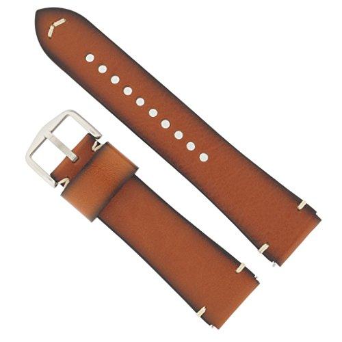 Fossil Uhrenarmband 22mm Leder Braun-Schwarz Uhrband FS-5334 / LB-FS5334