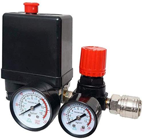 Druckregler Kompressor Druckschalter Luftkompressor mit Manometer Druckschalter Schalter Kompressor Luftkompressor Steuerventil Regler