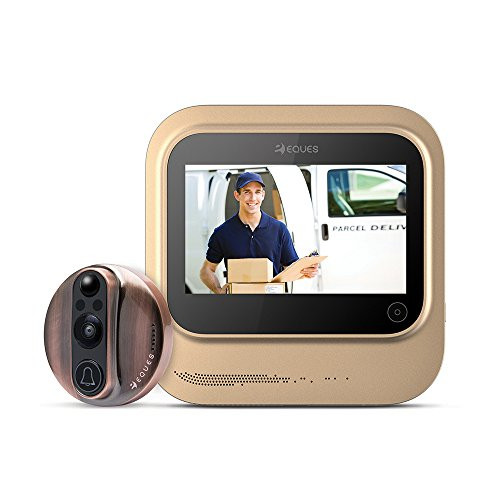 World's Smartest Video Doorbell - Eques VEIU Rechargeable Door Camera Peephole Viewer for Your Home...