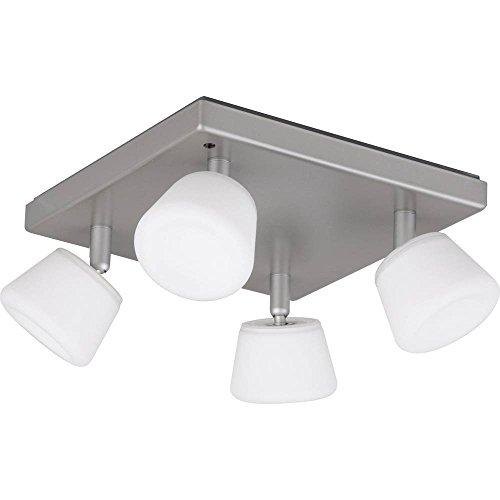 Jedi Lighting iDual Emeral RGB LED-Deckenleuchte 4-flammig, dimmbar, Warmton, Farbwechsler mit Fernbedienung. 300 lm