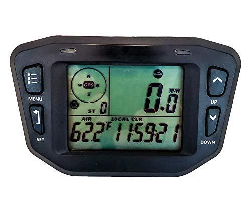 GPS Speedometer Digital Backlit LCD Display Gauge Kit Odometer Hour Meter Voltage Temperature Clock Maintenance...