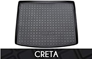 Hi Art Rear Waterproof Tray Boot Trunk Mat Compatible with Hyundai Creta 2020, Black