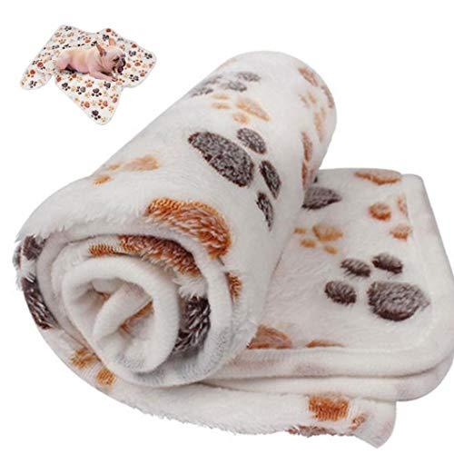 Aisoway Hundetatzen-Abdruck Warm Pet Blanket Niedlich Gemütlich Fleece Schlafen Betten Abdeckung Matte Für Small Medium Haustiere (größe M)