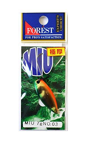 フォレスト(FOREST) スプーン MIUネイティブシリーズ 7g №3 グリーンオレンジベリー.