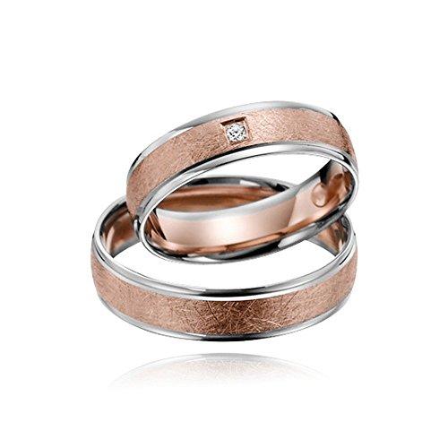 Trauringe Eheringe Verlobungsringe Rotgold Weißgold Bicolor Paarpreis BRILLANT
