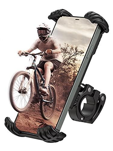 COPIC Handyhalterung Fahrrad Handyhalter Motorrad Hüllenfreundlich Handy Halterung Universal 360° Drehbar Fahrradhalterung für iPhone11/12/X/XR/8/SE Samsung S21/S20/S10/A51/A21 und 4,8-6,8 Zoll Handy
