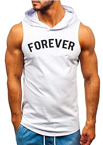 2020 Neue Explosionsmodelle ärmellos Bedruckte Herren-T-Shirts Europäische und amerikanische Herren-Sport-Kapuzen-T-Shirts vor Ort