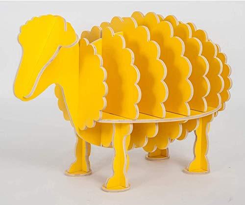 N/Z Salon Équipement Bibliothèque Table créative Bibliothèque Moutons étagères de Forme Animale de la pièce de mobilier décoration pour Enfants décoration Enfant I 98x55x64cm (39x22x25)