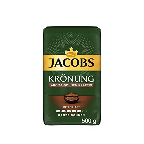 Jacobs Kaffeebohnen Krönung Aroma-Bohne kräftig, 12er Pack, 12 x 500 g Bohnenkaffee, 6 kg