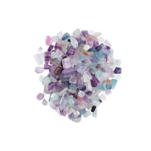 Angoily Fluorita Natural Chips Caídos Piedra Cristal Triturado Gravas de Cuarzo Piedras Curativas Relleno de Jarrón para Hacer Joyas Pecera Decoración del Camino del Jardín 7-9 Mm