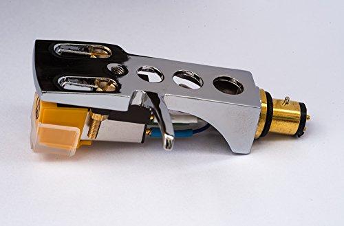 Spiegel Chrom beschichtet Schale, Halter mit AT Tonabnehmer, Nadel für CEC CN112, CN225, CN234, BA300, BD202, BD1000, BD2000, BD2200, BD3200, BD6000, BD7000, DD8200