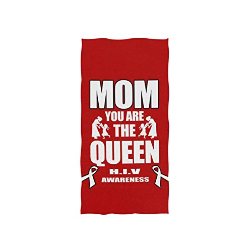 Bert-Collins Towel Toalla de Playa Toalla de baño con impresión de Conciencia de VIH de mamá para baño 80x130cm