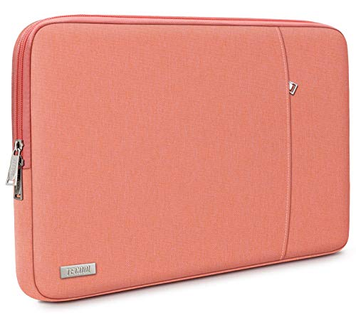 TECOOL 14 Inch Laptop Sleeve for Lenovo IdeaPad 3/Chromebook/ThinkPad 14', HP Stream/Pavilion/Elitebook 14, Dell Inspiron 14, 15' Surface Laptop 3, XPS 15 7590/9500, Samsung Notebook 9 15', Peach