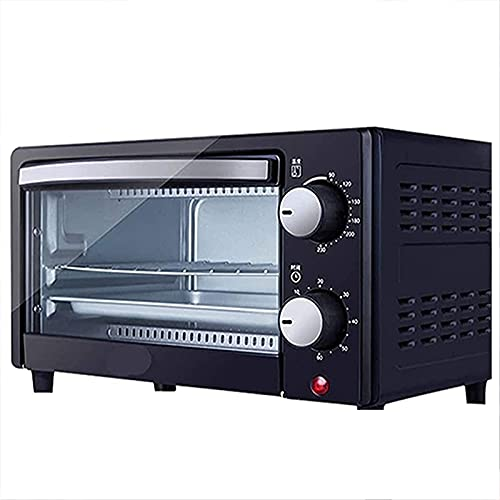 YYDMBH Oven,Air Fryers Oven Household Small Multi-Function Toaster Oven 12L Capacity Compact Design Tempered Glass Commercial Bread and Cake Baking Machine Black Halogen Ovens air Fryer