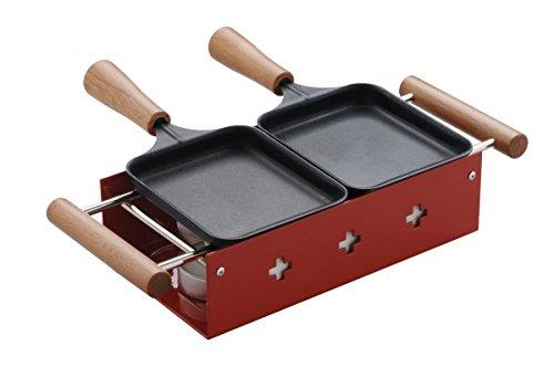 TTM 100.024 2Personen(schwarz), Rot, Holz Raclettegrill