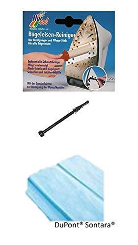 Bügel Eisen-Reiniger + Dupont® Sontara® 2 Tücher fusselfreie Reinigung der Extraklasse