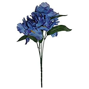 MM TJ Products Artificial Iris Bush: 5 Stems Pack of 2(Blue)