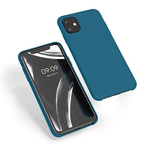 kwmobile Cover Compatibile con Apple iPhone 11 - Custodia in Silicone TPU - Back Case Protezione Cellulare Petrolio Matt