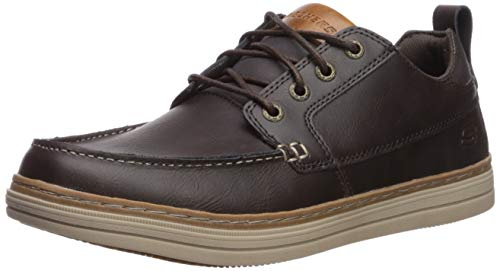 Skechers Heston-Sendo, Mocassini Uomo, Marrone (Chocolate Leather Chocolate), 45 EU