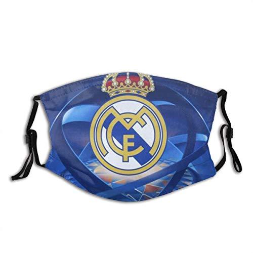 AYGoUP Gesichtsschutz Mundschutz Real Madrid Fußballmannschaft Wiederverwendbarer Nasenschutz Waschbar staubdicht gegen Verschmutzung