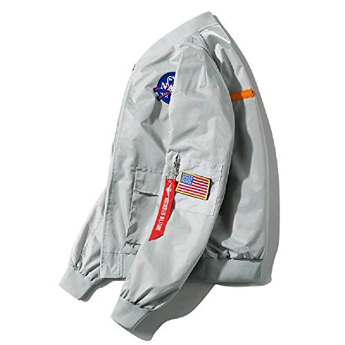 SKJJ Herren Jacke mit vertikalem Kragen Gr. XX-Large, hellgrau