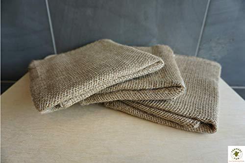 FARMERS FUN - Set di 3 sacchi in iuta, 100 x 60 cm