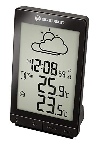 Bresser Funkwetterstation TemeoTrend STX mit Wettertrendanzeige, Alarm, inklusive Außensensor, schwarz