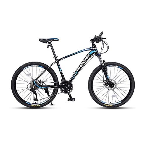 QIU Bicicletas de montaña HYX1 26 Pulgadas 3 Ruedas DEPLOZO 21 Velocidad Bicicleta DE MONTAÑA Dual Dual DE Disco Bicicleta (Color : Blue, Size : 26')