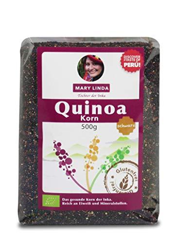 Mary Linda BIO Quinoa Korn - Vegan ohne Gluten & Soja, aus biologisch kontrolliertem Anbau (schwarz) (10 x 500g)