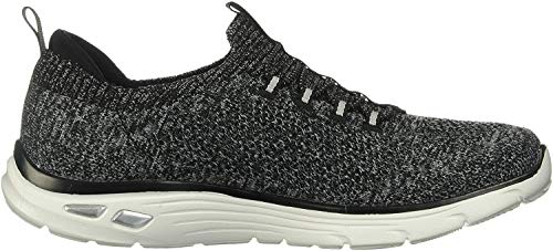 Skechers Women's Empire D'LUX-Sharp WITTED Sneaker, Black/White, 8 M US