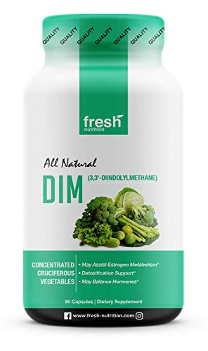 DIM Supplement 500mg - DIM Diindolylmethane - All Natural Estrogen & Hormone Balance Supplement Great for Detox, Menopause Relief, Acne, PCOS, Weight Loss & Bodybuilding – Vegan Friendly