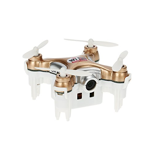 ACHICOO Cheer-Son CX-10WD-TX 2.4GHz 4CH 6-Axis WiFi FPV Quadcopter 3D Eversion Mini Drone con Fotocamera 0.3MP Oro Senza Telecomando