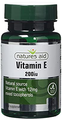Natures Aid Aid 200iu Vitamin E - Pack of 60 Softgel by NAVX2