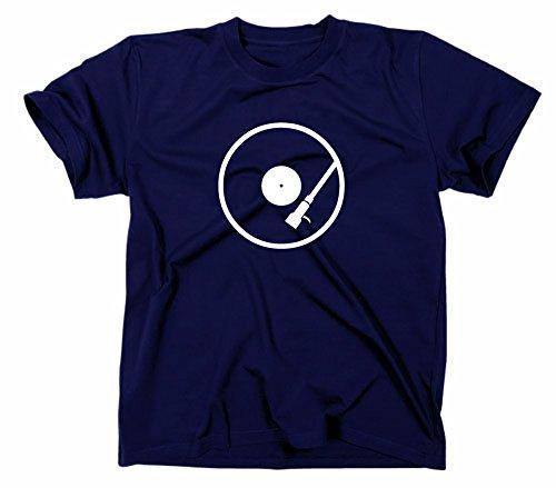 Plattenspieler DJ Kult T-Shirt, Navy, M