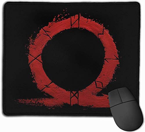God Of War Omega Gaming Mouse Pad Anti-lip Rubber Mousepad voor Computers Desktops laptop Mouse Mat 9.8