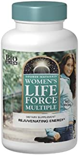 Source Naturals Women's Life Force Multiple Iron Free - Daily Complete Multivitamin 13 Essential Vitamins, Antioxidants, H...
