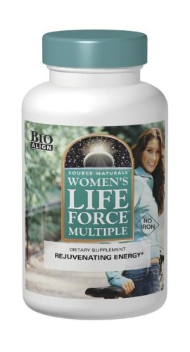 Source Naturals Women's Life Force Multiple Iron Free - Daily Complete Multivitamin 13 Essential Vitamins, Antioxidants, Herbs, Nutrients & Minerals - Enhanced Energy & Immune Boost - 90 Tablets