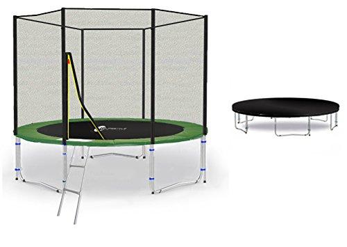 LifeStyle ProAktiv LS-T245-PA8 (GW) Trampolino da Giardino 245cm - Strength Rete di Sicurezza - New