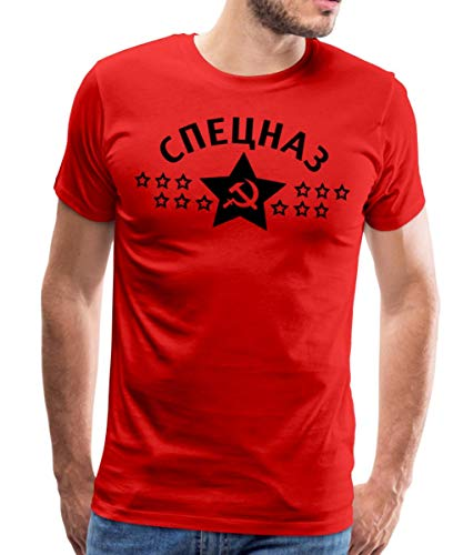 Speznas Спецназ Männer Premium T-Shirt, XL, Rot