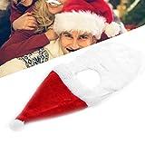 Papá Noel Barba, Peluca y Barba de Navidad Cosplay Bigote blanco Papá Noel Barba Disfraz Simulación Bigote falso blanco para Navidad Fácil de usar Cómodo y suave