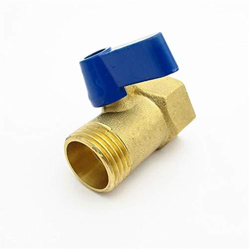 ling Válvula De Bola De Bola De Bola De Dos Vías 1/2'BSP Macho × 1/2' BSP Hilo Femenino, para Aire De Agua De Aceite (Color : Blue)