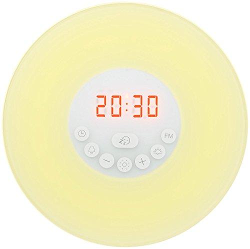 auvisio Tageslichtwecker: Wake-up-LED-Radiowecker mit Bluetooth & Sonnenaufgangs-Simulation (Sonnenaufgang Wecker)