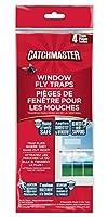 Catchmaster 窓に貼るハエ取り紙 虫取り粘着シート 4枚入り [並行輸入品]