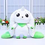 17in Cute Digimon Terriermon Plush Toy for Kids and Adults, Soft Comfortable Cotton Pillow Pet, Best Indoor Decor for Sofa